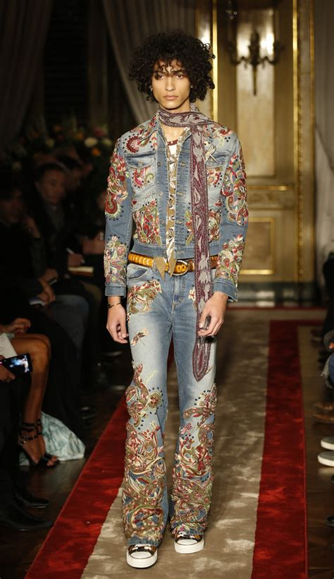 Mens Fashion Week Roberto Cavalli For And In Ss0708 by Dundas Makes Cavalli Menswear Premiere Daily Mail