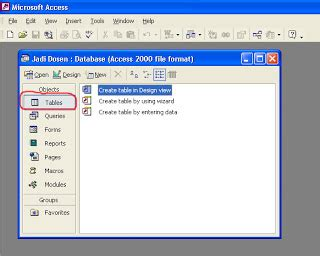 tutorial xp membuat database tutorial membuat database dengan microsoft access 2010