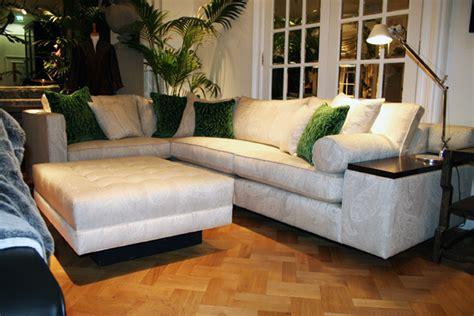 duresta corner sofa duresta mondrian corner sofa with green accent cushions