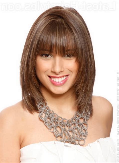 Medium Hairstyles With Bangs 2016 by Image Gallery Layered Haircuts With Bangs 2016