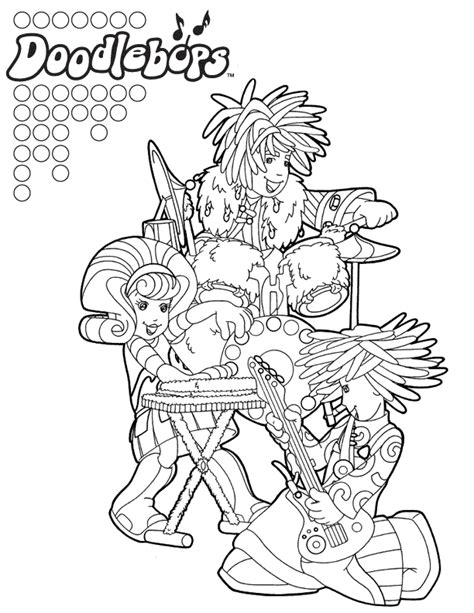 Doodlebops Coloring Pages doodlebops