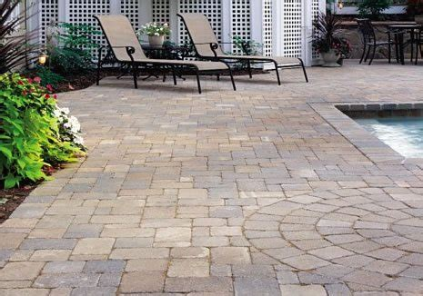 paver brick pool deck with brown concrete and pavers paver hanover md photo gallery landscaping network