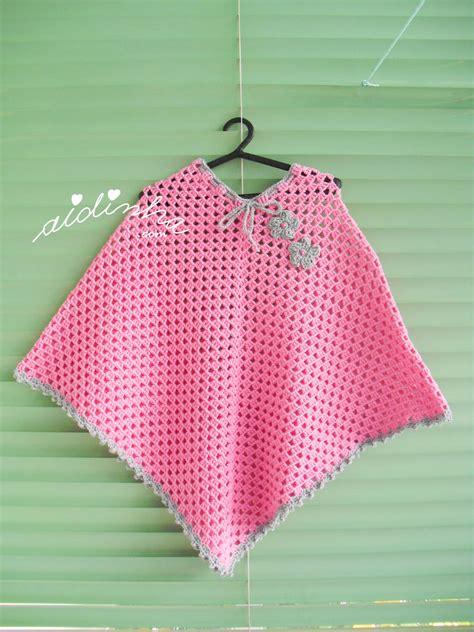 revista de crochet para este ao 2016 todo patrones poncho infantil de crochet em rosa e cinza