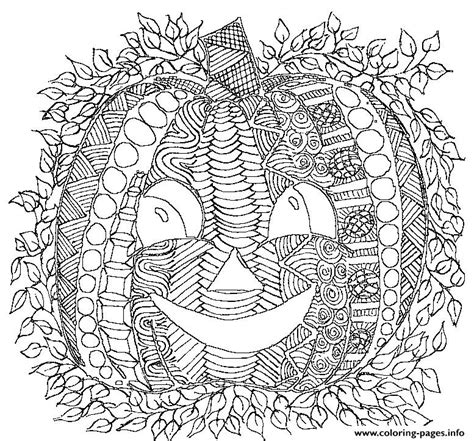pumpkin smile adult halloween coloring pages printable