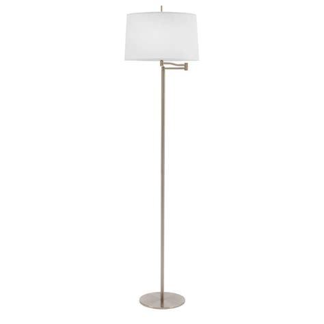 home depot swing arm l fangio lighting 62 in brushed steel metal swing arm floor