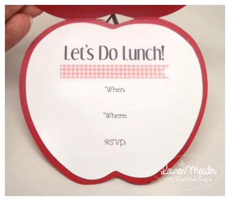 Lunch Card Template by Cards My Time My Creations My Stendence