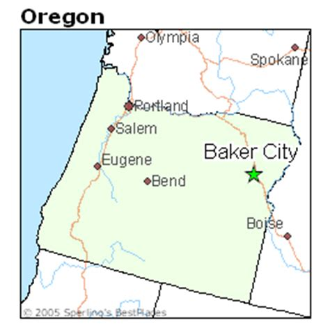 map of oregon baker city best places to live in baker city oregon