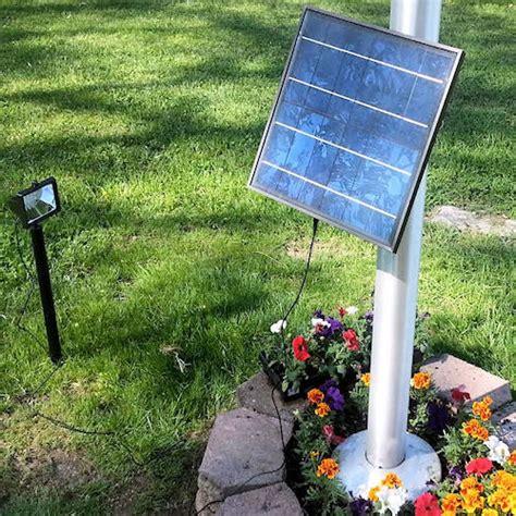 12 Led Commercial Solar Flood Light Flag Light Greenlytes Commercial Solar Landscape Lighting