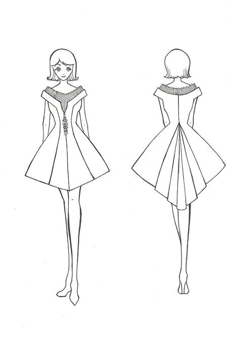 how to draw fashion templates fashion sketch 8 drawing by miftahur rizqiyah