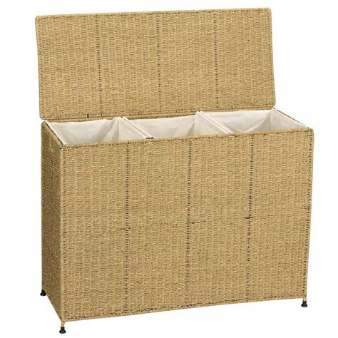 Shop Household Essentials Wicker Basket Or Clothes Her 3 Basket Laundry