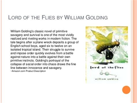 lord of the flies theme order vs chaos young adult books theme presentation