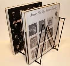 Vintage LP Metal Wire Storage Rack Stand Holder 1950s