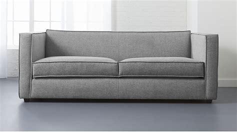 grey button sofa