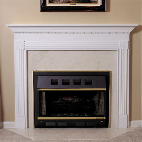 glacier fireplace mantel custom size