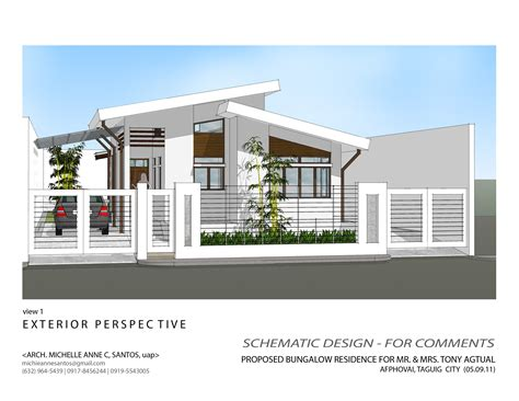Garage With Apartments Plans by House Plans For Bungalows Medem Co Models Philippines