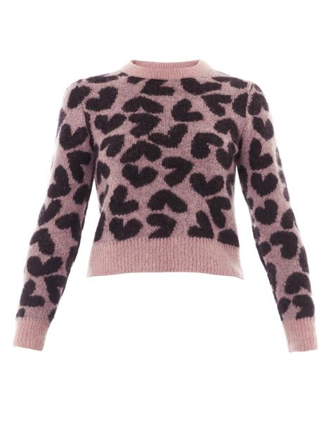 Sweater Normal Heartbeat Abu laurent print sweater in pink lyst