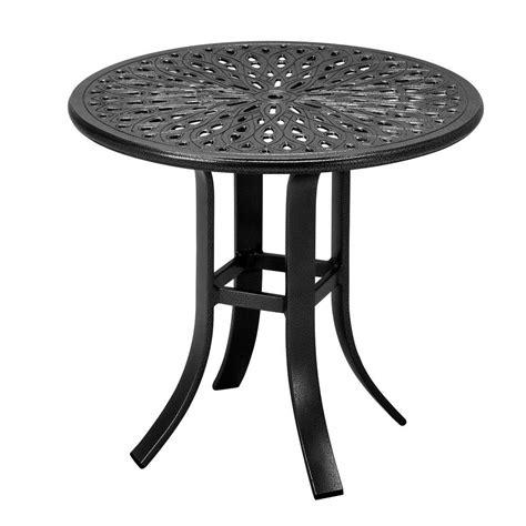 tradewinds outdoor furniture tradewinds 24 in black cast aluminum commercial patio