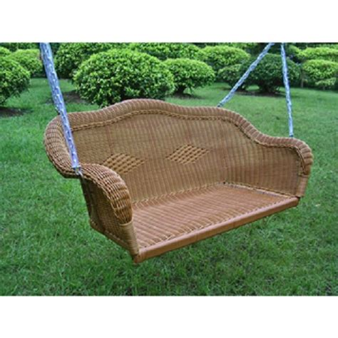 outdoor loveseat swing wicker resin hanging loveseat swing patio furniture garden