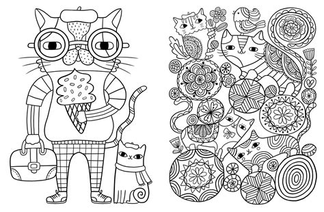 coloring for creativity posh coloring book cats kittens for comfort