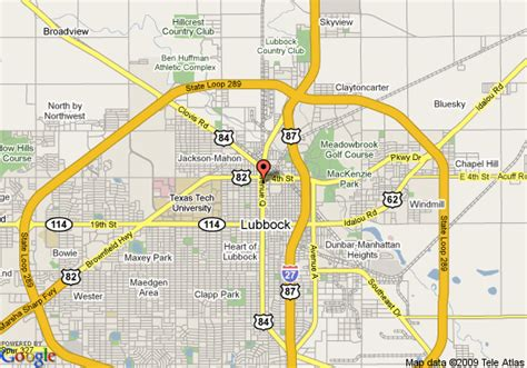 lubbock texas on map map of la quinta inn civic center lubbock lubbock