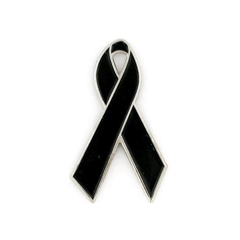 Black Housing 11 Pin Pin black ribbon lapel pin mourning ribbons awareness ribbons pinmart pinmart