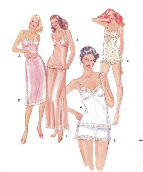 vintage underwear pattern free 80s butterick sewing pattern 4020 womens lingerie by