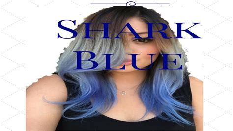 ion shark blue ion color brilliance shark blue hair color youtube