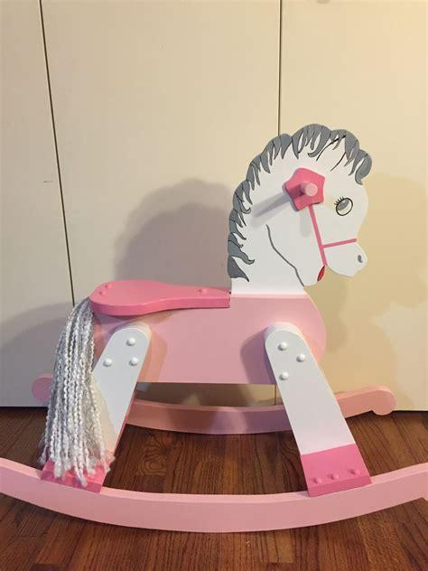 hand painted rocking horse rocking horse diy rocking