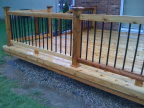 Metal Deck Spindles Railing And Baluster Ideas Deckorators