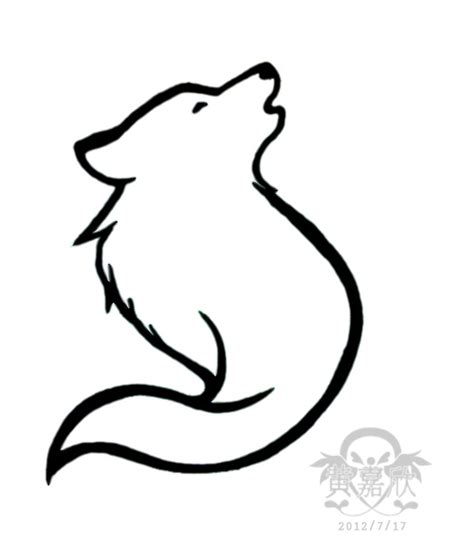 easy wolf tattoo designs howling wolf tattoo i designed tatted on em pinterest