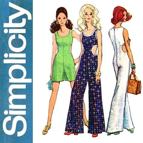 pattern jumpsuit free 1960s cut out jumpsuit pattern bust 38 simplicity 8244 mod