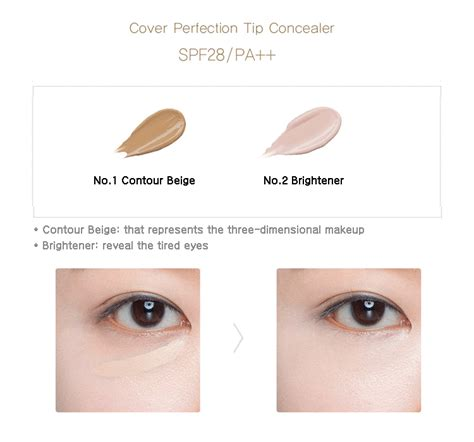 The Saem Cover Perfection Tip Concealer 01 Clear Beige the saem cover perfection tip concealer contour beige brightener ibuybeauti