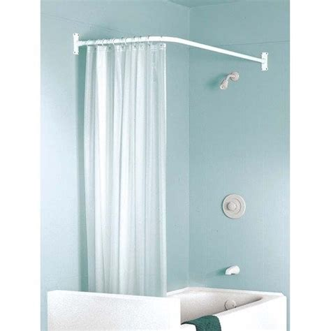 l shaped bathroom curtain rods l shaped curtain rod 30 04 bathroom redo pinterest