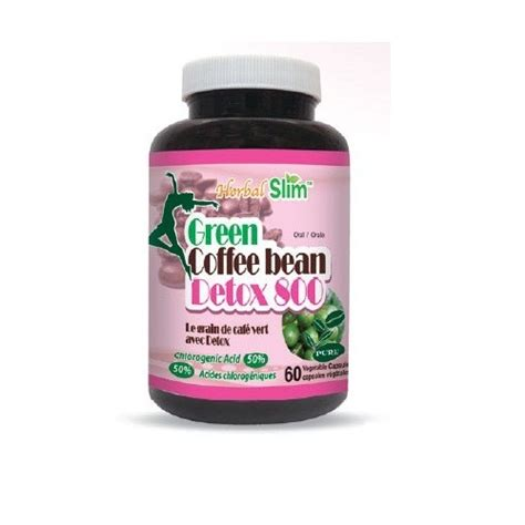 Green Coffee Bean Detox 800 herbalslim green coffee bean detox 800 60 vcaps bk