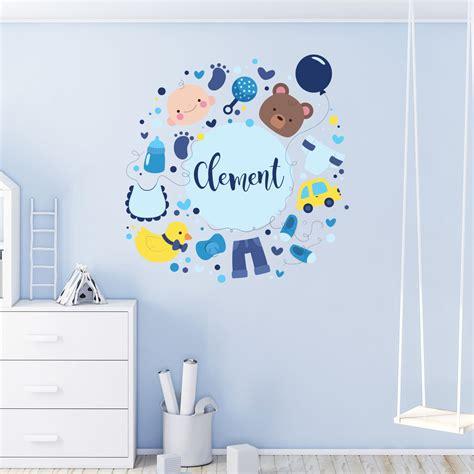 Prenom Chambre Bebe by Sticker Pr 233 Nom Personnalisable B 233 B 233 Design Gar 231 On
