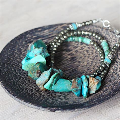 turquoise opal emerald opal and turquoise necklace by artique boutique