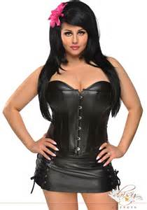 plus size corset plus size leather lingerie