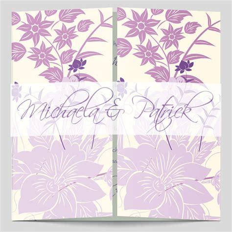 Hochzeitseinladungen Flieder by Hochzeitseinladung Florale Elemente In Flieder
