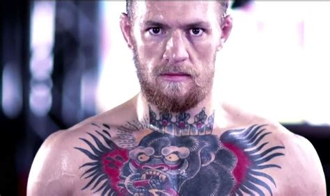 Mcgregor Tattoo On Chest | lamas why conor mcgregor has a giraffe tattoo on his