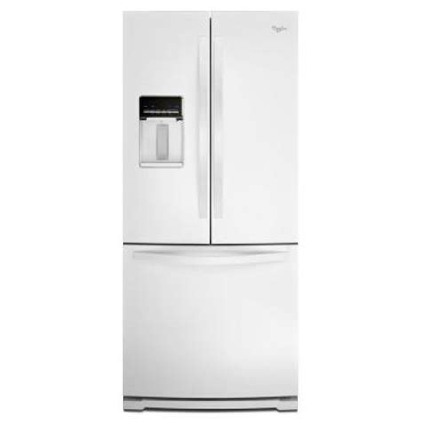 30 in door refrigerator whirlpool 30 in w 19 7 cu ft door refrigerator