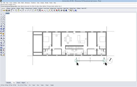 scaled floor plan importing and scaling reference drawings in rhino