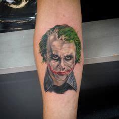 heath ledger wrist tattoo batman joker dc comics color tattoos portrait