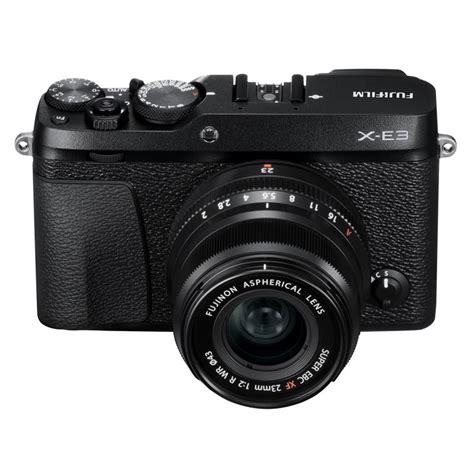 Fujifilm X E3 Kit 23mm fujifilm x e3 in black xf 23mm f 2 r wr black lens kit