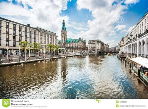 city center hamburg hamburg city center with town and alster river