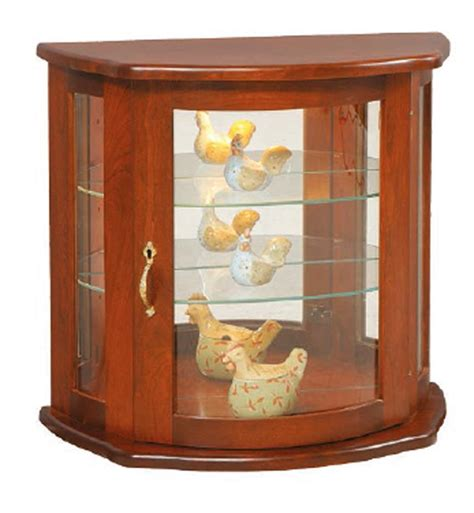 what goes in a curio cabinet amish flat wall curio cabinet
