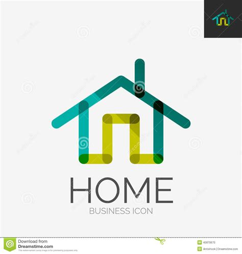design home icon home icon or logo in modern line style vector