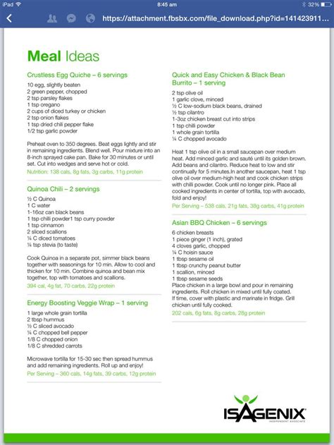Detox Snacks Ideas by 1000 Images About The Isagenix On