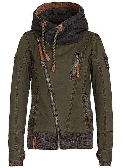 Jaket Zipper 2 From Tribun Padang With asymmetrical zipper sleeve drawstring hooded jacket