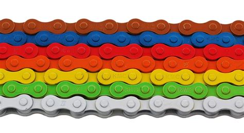 colored bike chains capovelo kmc puts the quot bling quot in with colored bike