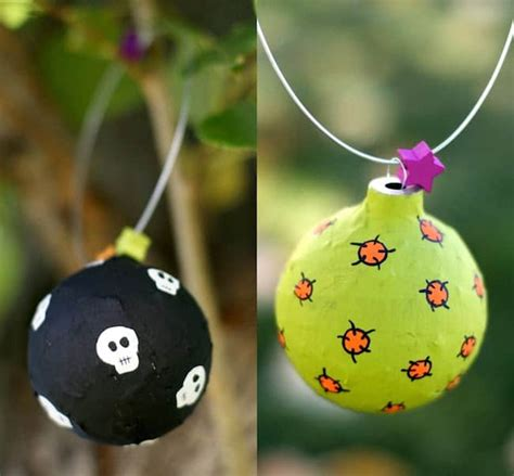 How To Make Paper Mache Ornaments - how to make recycled ornaments mod podge rocks